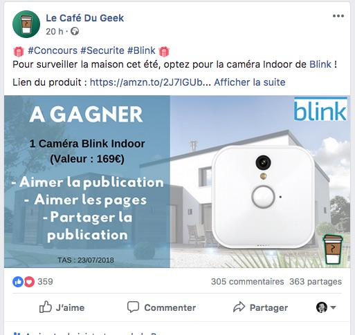 Facebook Contest CafeGeek